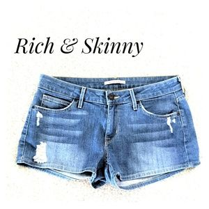 EUC ~ RICH & SKINNY Destroyed Shorts